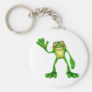 Froggie the Cute Cartoon Waving Frog Keychains