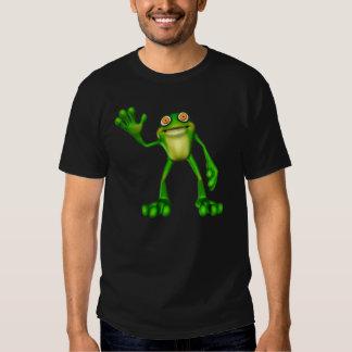 Froggie the Cute Cartoon Waving Frog Tee Shirts