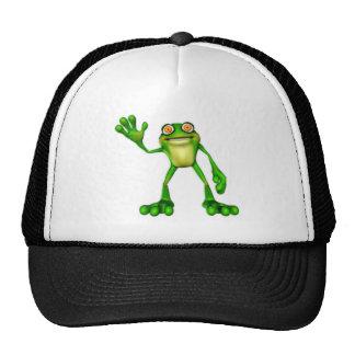 Froggie the Cute Cartoon Waving Frog Trucker Hat
