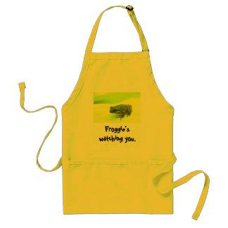 Froggie's watching you. standard apron