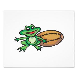 froggy and football 11.5 cm x 14 cm flyer
