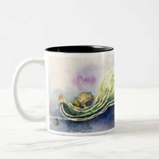 Froggy and Gourds Two-Tone Coffee Mug