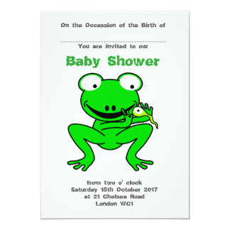Froggy and Tadpole baby shower Card