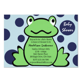 Froggy Baby Shower Card