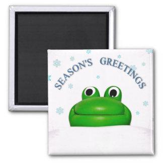 FROGGY CHRISTMAS: SEASON'S GREETINGS ~ MAGNET