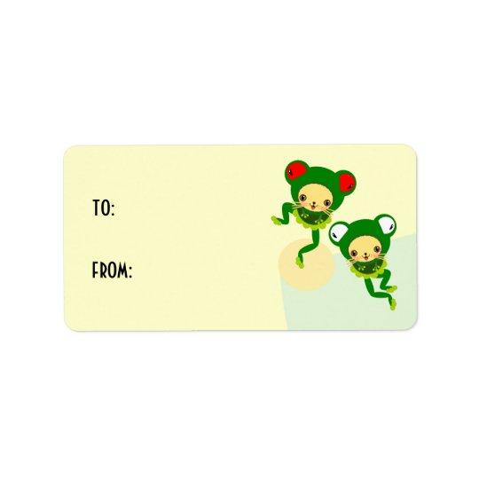 froggy dance address label