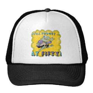 Froggy Fifty 50th Birthday Gifts Trucker Hat