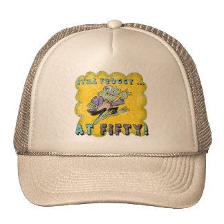 Froggy Fifty 50th Birthday Gifts Trucker Hats