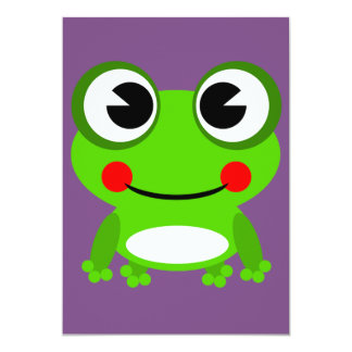 froggy frog frog invitation