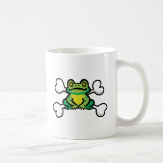 froggy frog Skull and Crossbones Coffee Mug