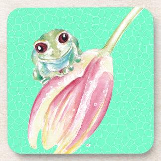 Froggy green coaster