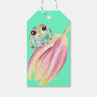 Froggy green gift tags