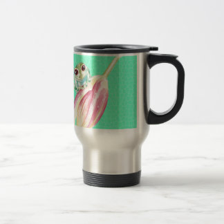 Froggy green travel mug