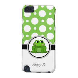 Froggy Green & White Polka Dot iPod Touch 5G iPod Touch 5G Cases