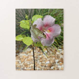 Froggy Hibiscus Flower Puzzle