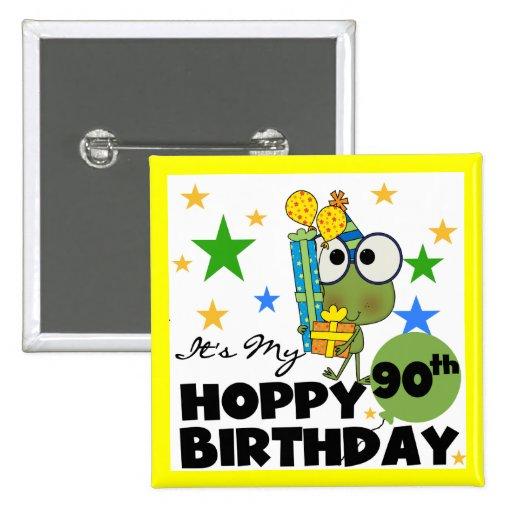 Froggy Hoppy 90th Birthday Button
