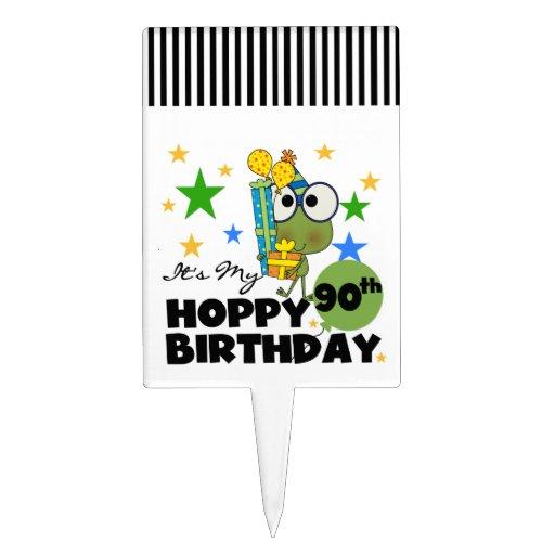 Froggy Hoppy 90th Birthday Cake Pick