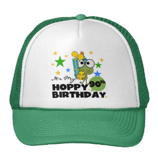 Froggy Hoppy 90th Birthday Mesh Hats