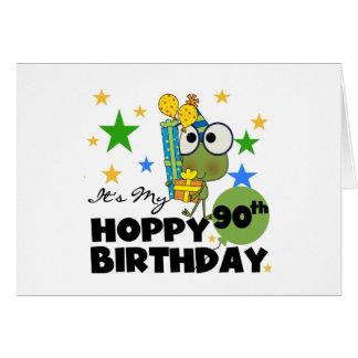 Froggy Hoppy 90th Birthday Note Card