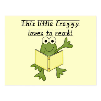 Froggy Loves to Read T-shirts and Gifts Postcard