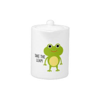 Froggy Porcelain tea pot