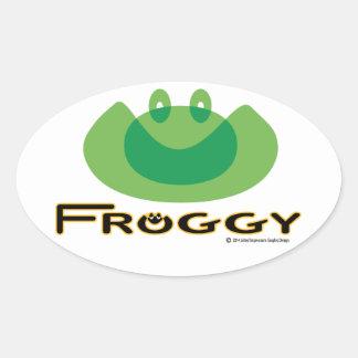 Froggy Sticker Oval