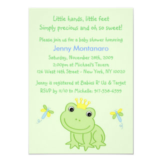 Froggy Tales Frog Custom Baby Shower Invitation