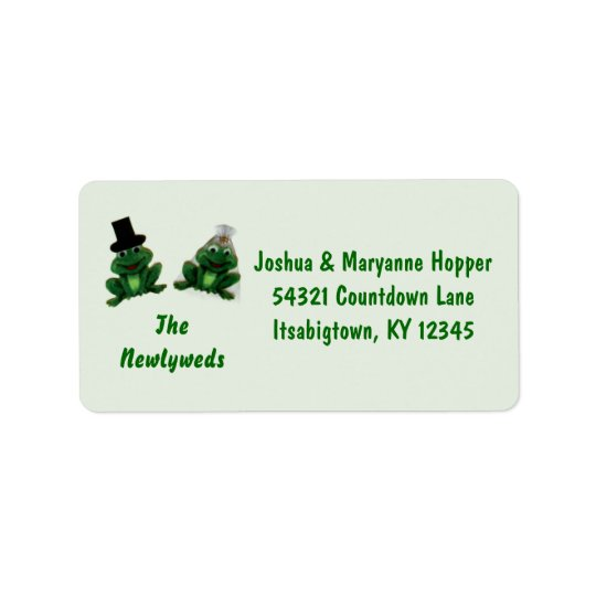 Froggy Wedding - Newlywed Address Labels