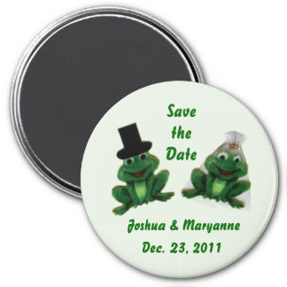 Froggy Wedding - Save the Date Magnets