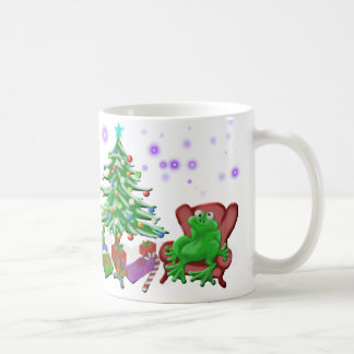 froggy's christmas coffee mug