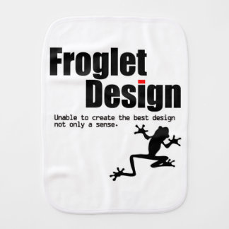froglet design burp cloth