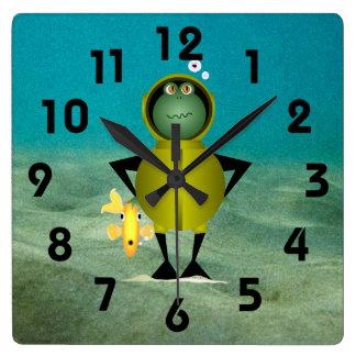 Frogman Clock