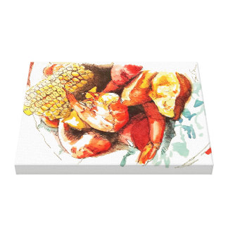 Frogmore Stew on Bone China Canvas Print