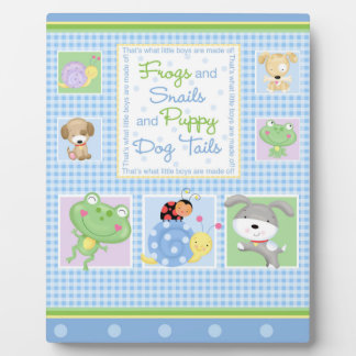 Frogs and Snails Baby Art Easel Plaque