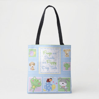 Frogs and Snails Baby Tote Bag
