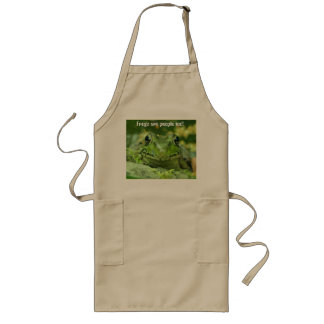 Frogs are people too! long apron