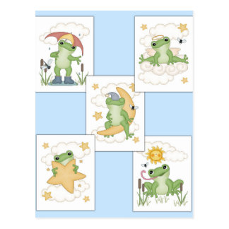Frog's at Play Postcard
