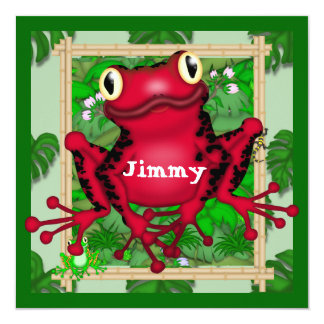 Frogs BIRTHDAY INVITATION