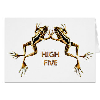 Frogs High Five Greeting Card 1