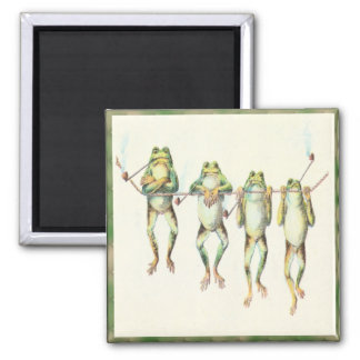 Frogs in a Line Square Magnet