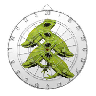 FROGS IN FOUR DARTBOARD WITH DARTS