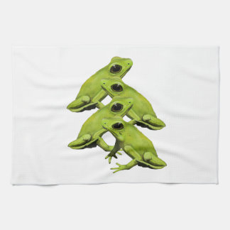 FROGS IN FOUR KITCHEN TOWEL