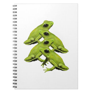 FROGS IN FOUR SPIRAL NOTEBOOK