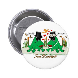 frogs - just married button