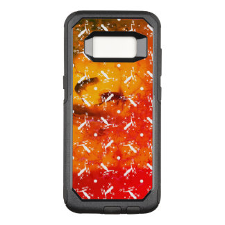 Frogs on amber background OtterBox commuter samsung galaxy s8 case