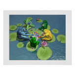 Frogs Playing Poker Print