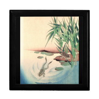 Frogs Pond Bamboo Animals Asian Gift Box