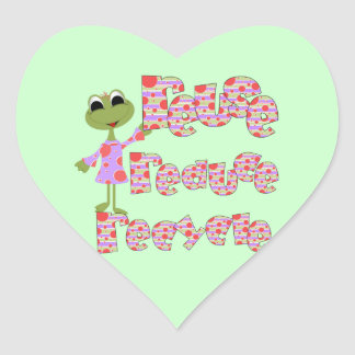 Frogs Reduce Reuse Recycle Tshirts and Gifts Heart Sticker