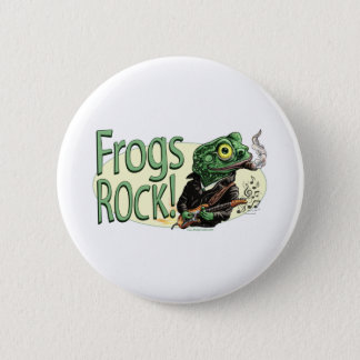 Frogs Rock! Button