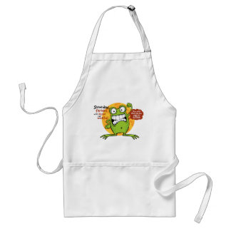 Frogs Rule Funny Apron